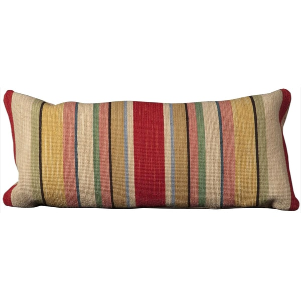 Mina Victory Nourmak Ivory Throw Pillow (14-inch x 30-inch) by Nourison