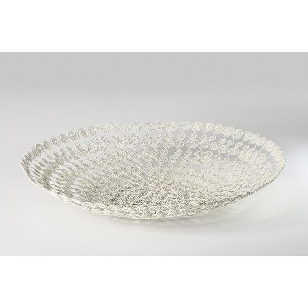 White Swirl Wire Basket (India)