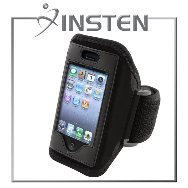 INSTEN Black Sportband with Case for Apple iPhone 3/ 3G/ 4/ 4S