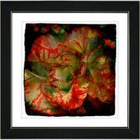 Studio Works Modern 'Deep Red Carnation' Framed Print