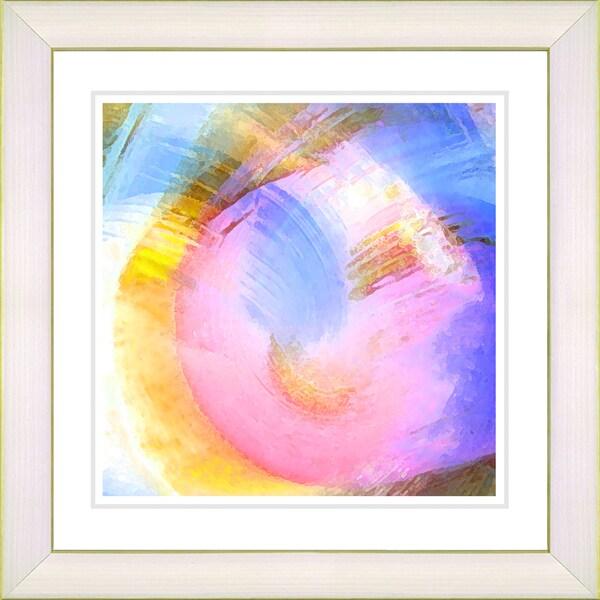Studio Works Modern 'Solar Winds - Pink' Framed Print