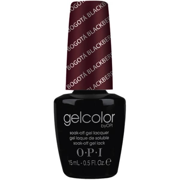 OPI Gelcolor Bogota Blackberry Soak-Off Gel Lacquer. Opens flyout.