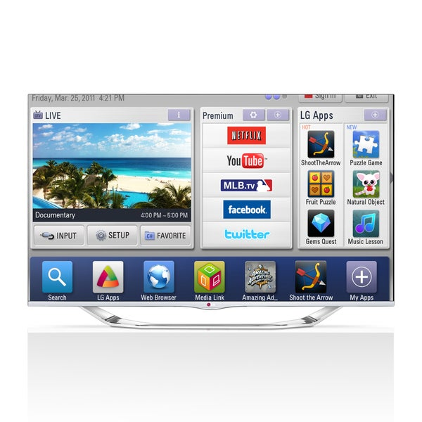 "LG 55LA7400 55"" 1080p 240Hz 3D LED Smart TV"