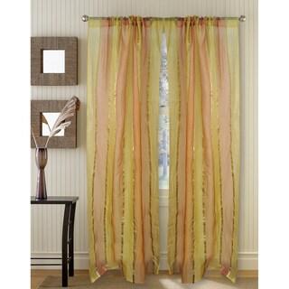 Golden Silk Organza 95-inch Curtain Panel