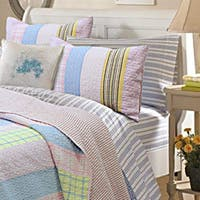 Tara Stripe Pink 3-piece Quilt Set