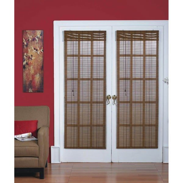 Bamboo Natural French Door Blind Free Shipping On Orders