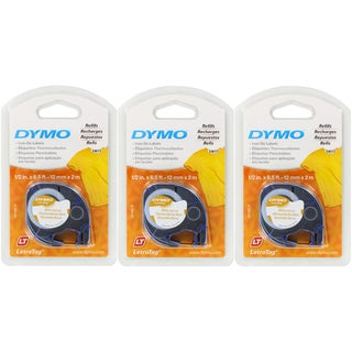 Dymo LetraTag Iron-On Label Tape White Refills