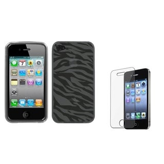 INSTEN Phone Case Cover/ Screen Protector for Apple iPhone 4/ 4S