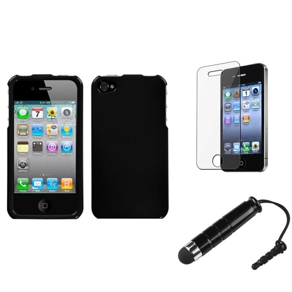 INSTEN Phone Case Cover/ Protector/ Stylus for Apple iPhone 4/ 4S