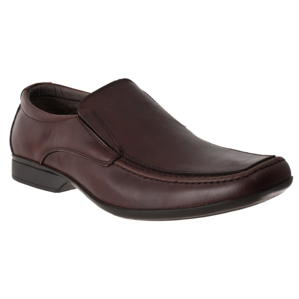 Steven Madden Men's 'Adi' Brown Leather Dress Loafers