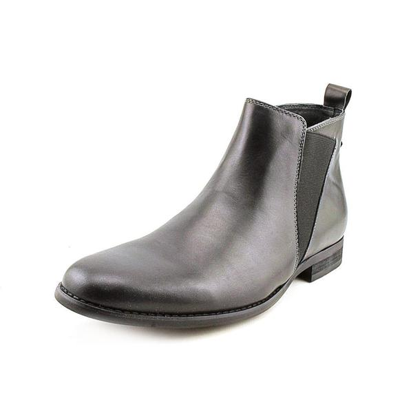 Steve Madden Men's 'Machho' Black Leather Pull-on Boots