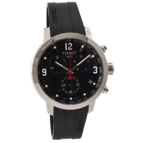 Tissot Men's 'T-Sport' Black Dial Rubber Strap Chronograph Watch