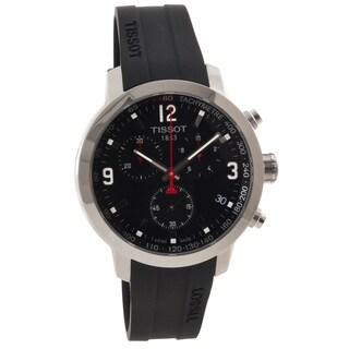 Tissot Men's T0554171705700 'T-Sport' Black Dial Rubber Strap Chronograph Watch