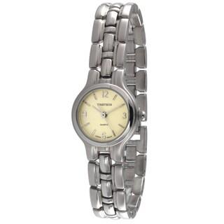 Timetech Women's Silvertone Champagne Dial Watch
