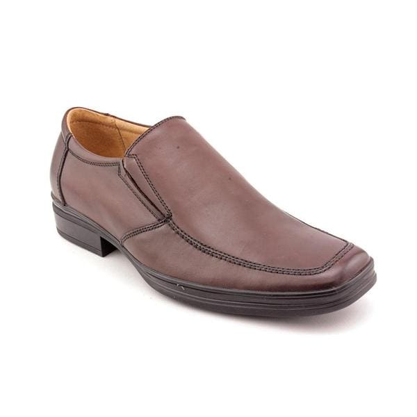 Steve Madden Men's 'Transyt' Leather Slip-on Dress Shoes