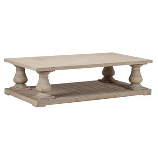 Wilson Antique White  Reclaimed Pine Coffee Table by Kosas Home