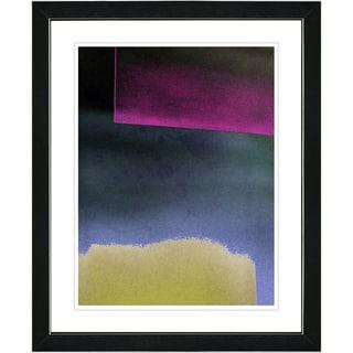 Zhee Singer 'Umfolozi - Blue' Black Framed Print