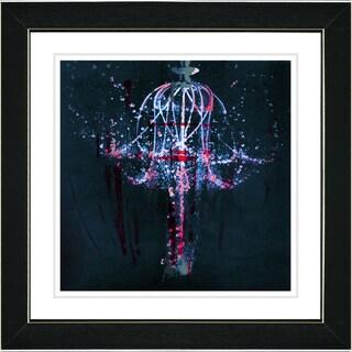 Studio Works Modern 'Blue Chandelier' Framed Print