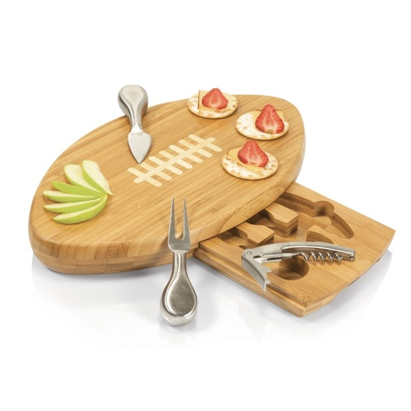 Picnic Time Quarterback Cutting Board and Tool Set