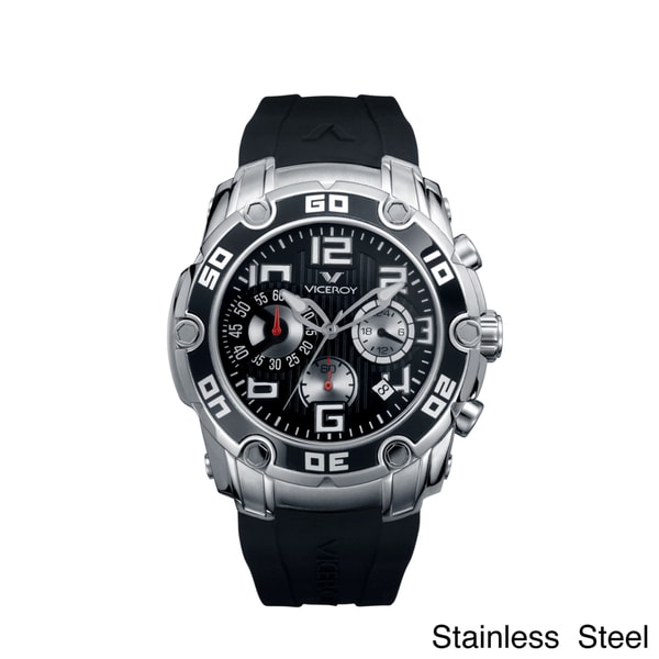 Shop viceroy spain men 39 s black dial chronograph watch free shipping today for Watches of spain