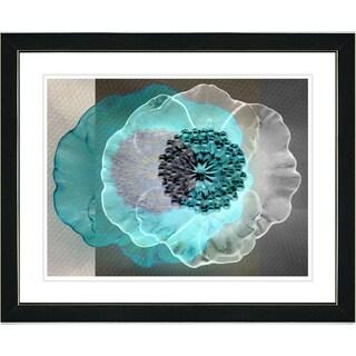 Studio Works Modern 'Turquoise Day Flower' Framed Print