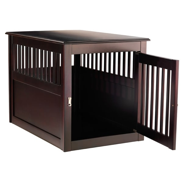 Berkshire fort Espresso Wooden Pet Crate End Table