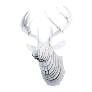 Shop 3d Faux Whitetail Deer Head Sculpture Free Shipping Today 7946315