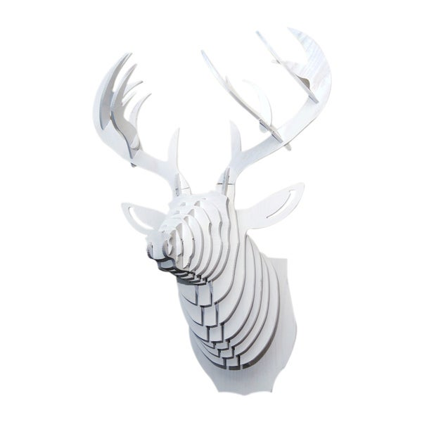 3d Faux Whitetail Deer Head Sculpture Free Shipping Today 15320239