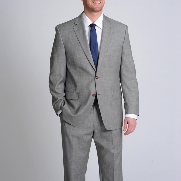 LAUREN by Ralph Lauren Men's Grey Shark Wool Suit