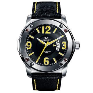 Viceroy Spain Men's Vimar12 Yellow Numbers Black Bezel Watch|https://ak1.ostkcdn.com/images/products/7946454/P15320370.jpg?impolicy=medium