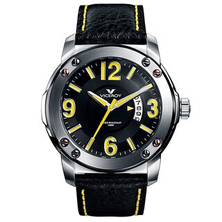 Viceroy Spain Men's Vimar12 Yellow Numbers Black Bezel Watch