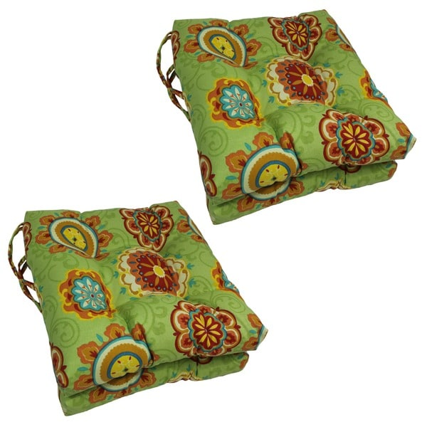 Blazing Needles 16 In Square Outdoor Chair Cushions (Set Of 4)   16