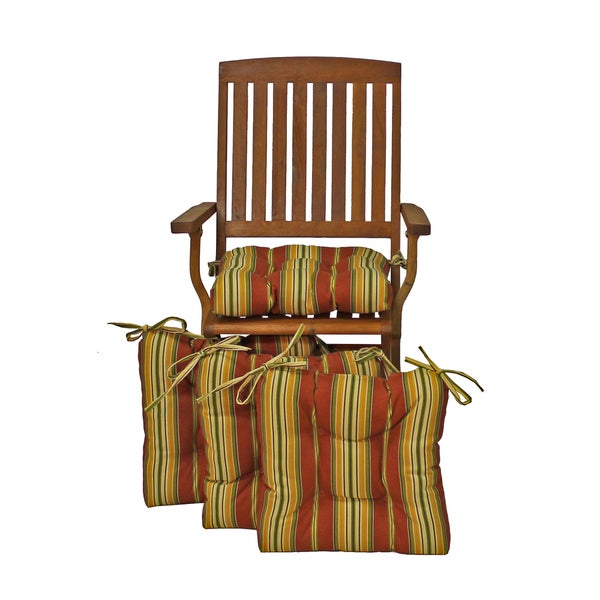 Shop Blazing Needles 16 Inch Square Tufted Outdoor Chair