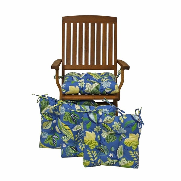 Shop Blazing Needles 16 Inch Indoor Outdoor Chair Cushion Set Of 4