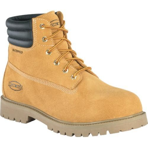 Men's Iron Age Steadfast 6in Waterproof Insulated Work Boot Wheat Suede