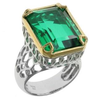 Michael Valitutti Sterling Silver Green Quartz Ring