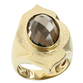 Michael Valitutti Gold over Silver Smoky Quartz Ring
