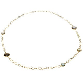Michael Valitutti Gold over Silver Multi-gemstone Necklace