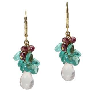 Michael Valitutti Gold over Silver Multi-gemstone Earrings
