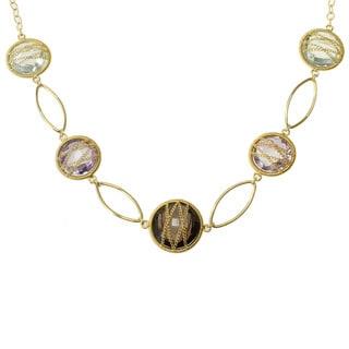 Michael Valitutti Gold over Silver Multi-gemstone Necklace
