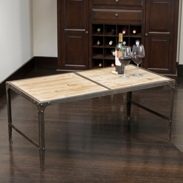 Conroe Weathered Wood Accent Table by Christopher Knight Home