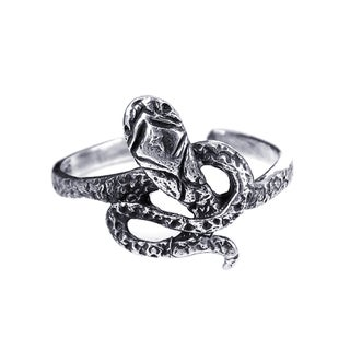 Silver Foxy Snake Coil Wrap Toe or Pinky Ring (Thailand)