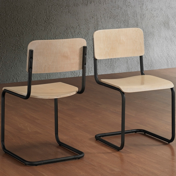 Emerson Wood Dark Vintage Dining Chairs (Set of 2)