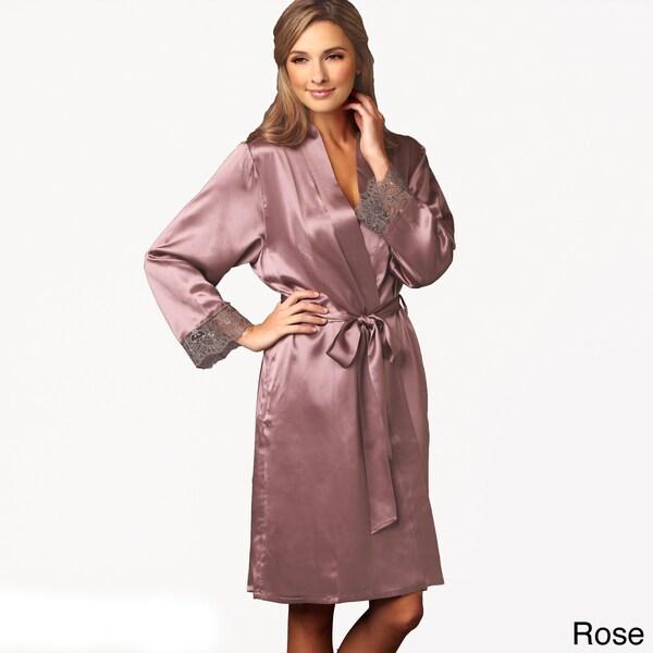 Julianna Rae Women's Luxury Le Soir Dream Short Silk Robe