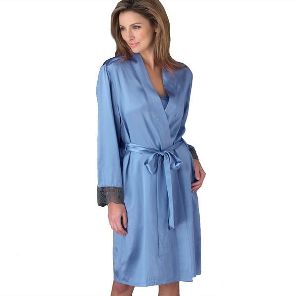 Shop Black Friday Deals On Julianna Rae Women S Luxury Le Soir Dream Short Silk Robe Overstock 7949704