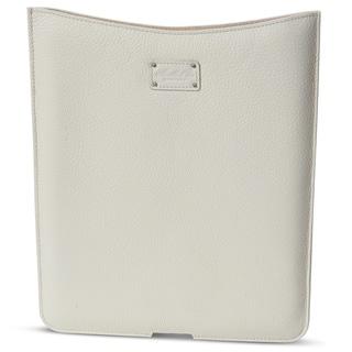 Morelle Tess Genuine Top Grain Leather Cream iPad Holder