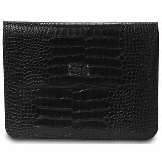 Morelle & Co Ryan Genuine Split Crocodile Leather iPad Holder with Flap
