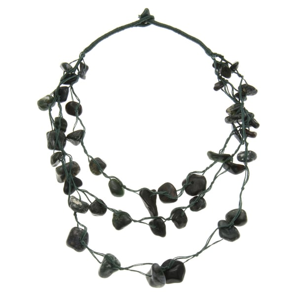 Triple-Strand Agate Necklace (India)
