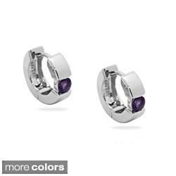 Gioelli Sterling Silver Gemstone Cuff Earrings