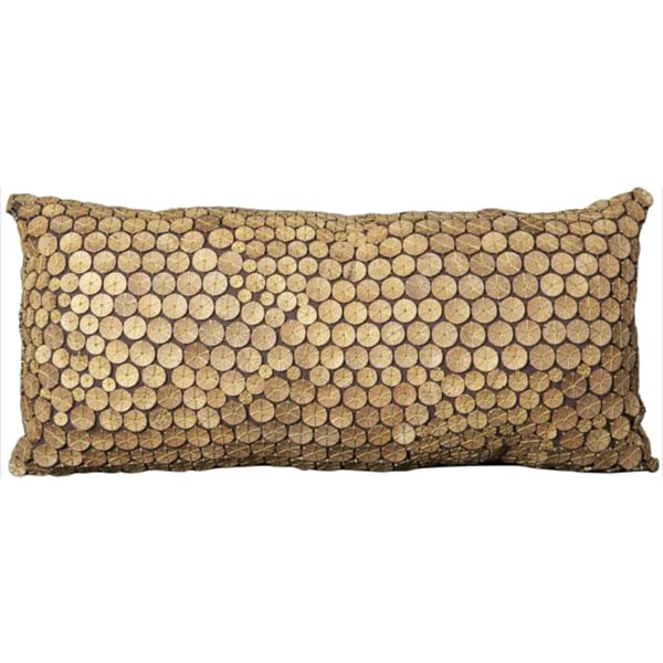 Mina Victory Button Collection Green 14 x 30-inch Decorative Pillow by Nourison